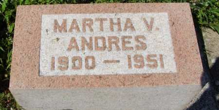 ANDRES, MARTHA - Erie County, Ohio | MARTHA ANDRES - Ohio Gravestone Photos