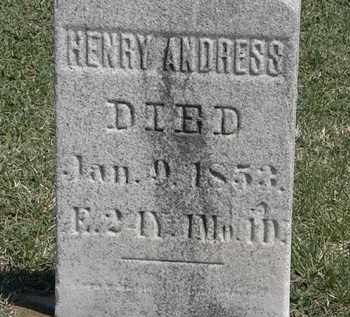 ANDRESS, HENRY - Erie County, Ohio | HENRY ANDRESS - Ohio Gravestone Photos