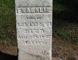 ANDREWS, FRANKLIN - Erie County, Ohio   FRANKLIN ANDREWS - Ohio Gravestone Photos