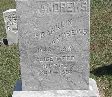 ANDREWS, ALICE - Erie County, Ohio | ALICE ANDREWS - Ohio Gravestone Photos