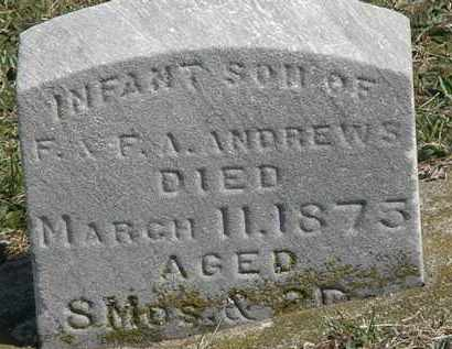 ANDREWS, INFANT - Erie County, Ohio | INFANT ANDREWS - Ohio Gravestone Photos