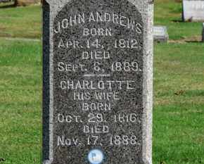 ANDREWS, CHARLOTTE - Erie County, Ohio | CHARLOTTE ANDREWS - Ohio Gravestone Photos