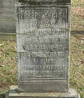 ARCHER, JOSEPH - Erie County, Ohio | JOSEPH ARCHER - Ohio Gravestone Photos