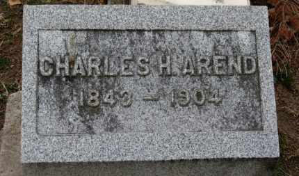 AREND, CHARLES H. - Erie County, Ohio | CHARLES H. AREND - Ohio Gravestone Photos