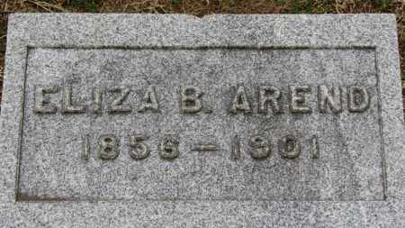 AREND, ELIZA B. - Erie County, Ohio | ELIZA B. AREND - Ohio Gravestone Photos