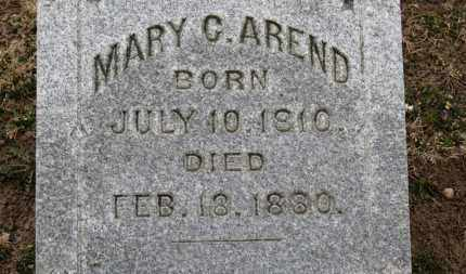 AREND, MARY C. - Erie County, Ohio | MARY C. AREND - Ohio Gravestone Photos