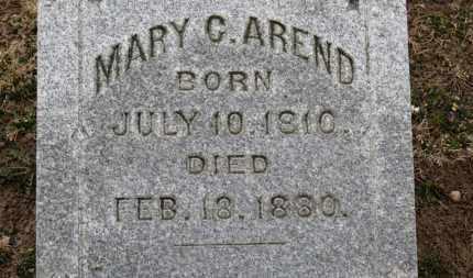 AREND, MARY C. - Erie County, Ohio | MARY C. AREND - Ohio Gravestone Photos