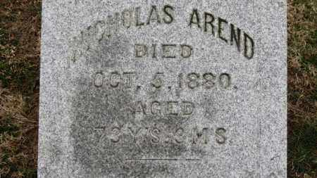 AREND, NICHOLAS - Erie County, Ohio | NICHOLAS AREND - Ohio Gravestone Photos