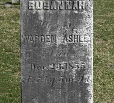 ASHLEY, SUSANNAH - Erie County, Ohio | SUSANNAH ASHLEY - Ohio Gravestone Photos