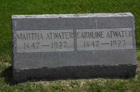 ATWATER, MARTHA - Erie County, Ohio | MARTHA ATWATER - Ohio Gravestone Photos