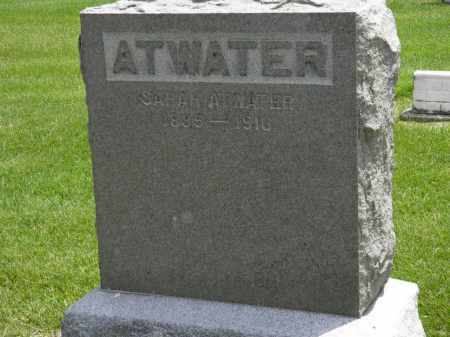 ATWATER, SARAH - Erie County, Ohio | SARAH ATWATER - Ohio Gravestone Photos