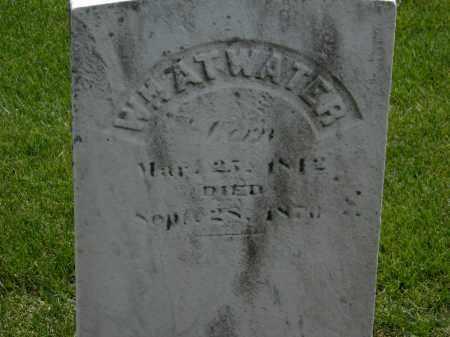 ATWATER, WM. - Erie County, Ohio   WM. ATWATER - Ohio Gravestone Photos