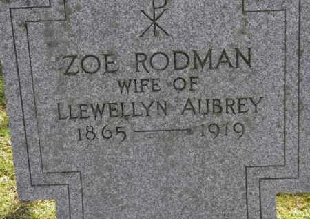 AUBREY, ZOE - Erie County, Ohio | ZOE AUBREY - Ohio Gravestone Photos