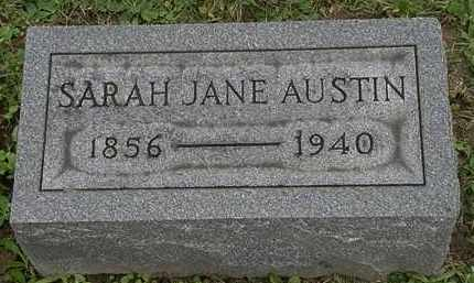 AUSTIN, SARAH JANE - Erie County, Ohio | SARAH JANE AUSTIN - Ohio Gravestone Photos