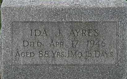 AYRES, IDA J. - Erie County, Ohio | IDA J. AYRES - Ohio Gravestone Photos