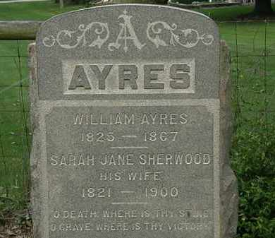 AYRES, SARAH JANE - Erie County, Ohio | SARAH JANE AYRES - Ohio Gravestone Photos