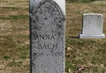 BACH, ANNA F. - Erie County, Ohio | ANNA F. BACH - Ohio Gravestone Photos