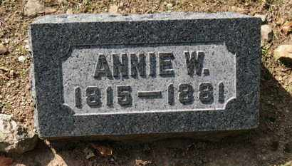 BACON, ANNIE W. - Erie County, Ohio | ANNIE W. BACON - Ohio Gravestone Photos