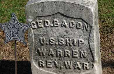 BACON, GEO. - Erie County, Ohio | GEO. BACON - Ohio Gravestone Photos