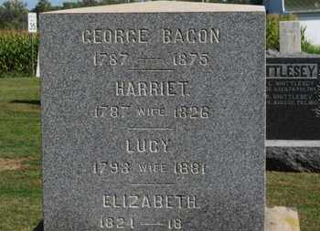 BACON, ELIZABETH - Erie County, Ohio | ELIZABETH BACON - Ohio Gravestone Photos
