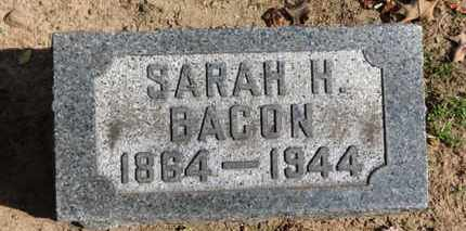 BACON, SARAH H. - Erie County, Ohio | SARAH H. BACON - Ohio Gravestone Photos