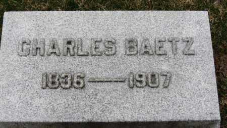 BAETZ, CHARLES - Erie County, Ohio | CHARLES BAETZ - Ohio Gravestone Photos