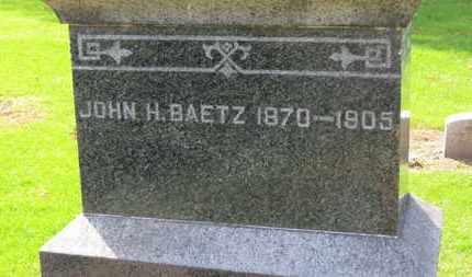 BAETZ, JOHN H. - Erie County, Ohio | JOHN H. BAETZ - Ohio Gravestone Photos