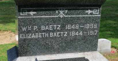 BAETZ, ELIZABETH - Erie County, Ohio | ELIZABETH BAETZ - Ohio Gravestone Photos