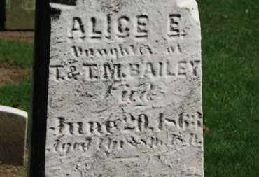 BAILEY, ALICE E. - Erie County, Ohio | ALICE E. BAILEY - Ohio Gravestone Photos