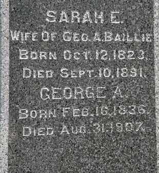 BAILLIE, SARAH E. - Erie County, Ohio | SARAH E. BAILLIE - Ohio Gravestone Photos