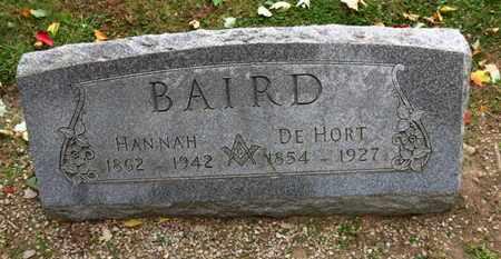 BAIRD, HANNAH - Erie County, Ohio | HANNAH BAIRD - Ohio Gravestone Photos