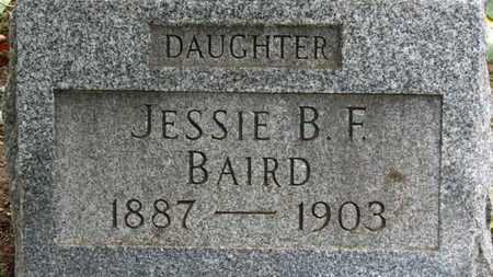 BAIRD, JESSIE B.F. - Erie County, Ohio | JESSIE B.F. BAIRD - Ohio Gravestone Photos