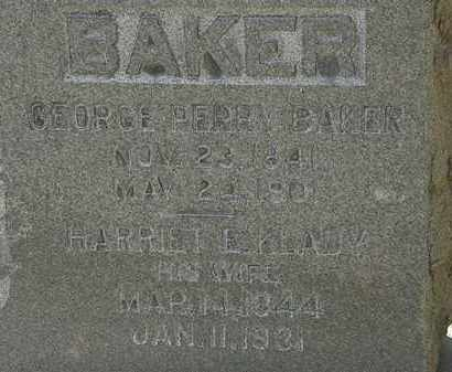 KLADY BAKER, HARRIET E. - Erie County, Ohio | HARRIET E. KLADY BAKER - Ohio Gravestone Photos