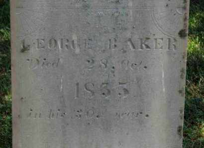 BAKER, GEORGE - Erie County, Ohio | GEORGE BAKER - Ohio Gravestone Photos