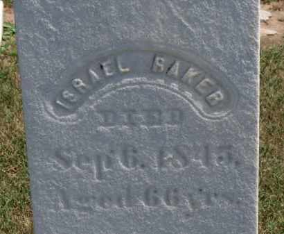 BAKER, ISRAEL - Erie County, Ohio | ISRAEL BAKER - Ohio Gravestone Photos