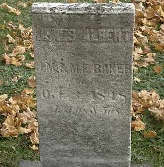 BAKER, JONES ALBERT - Erie County, Ohio | JONES ALBERT BAKER - Ohio Gravestone Photos
