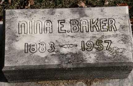BAKER, NINA E. - Erie County, Ohio | NINA E. BAKER - Ohio Gravestone Photos