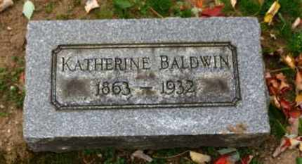 BALDWIN, KATHERINE - Erie County, Ohio | KATHERINE BALDWIN - Ohio Gravestone Photos