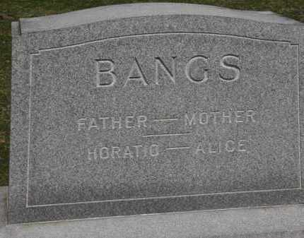 BANGS, HORATIO - Erie County, Ohio | HORATIO BANGS - Ohio Gravestone Photos
