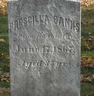 BANKS, PRESCILLA - Erie County, Ohio | PRESCILLA BANKS - Ohio Gravestone Photos