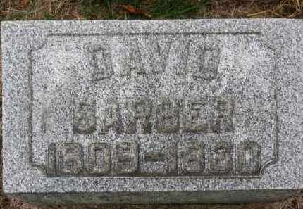 BARBER, DAVID - Erie County, Ohio | DAVID BARBER - Ohio Gravestone Photos