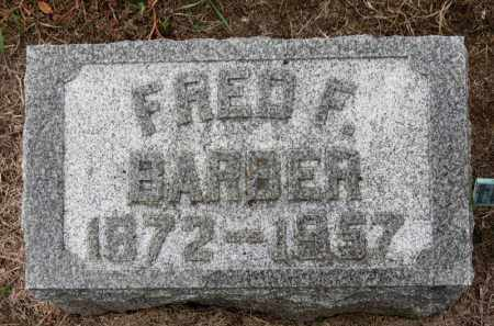 BARBER, FRED F. - Erie County, Ohio | FRED F. BARBER - Ohio Gravestone Photos