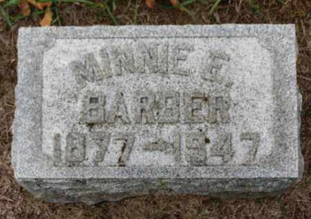 BARBER, MINNIE E. - Erie County, Ohio | MINNIE E. BARBER - Ohio Gravestone Photos
