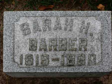 BARBER, SARAH H. - Erie County, Ohio | SARAH H. BARBER - Ohio Gravestone Photos
