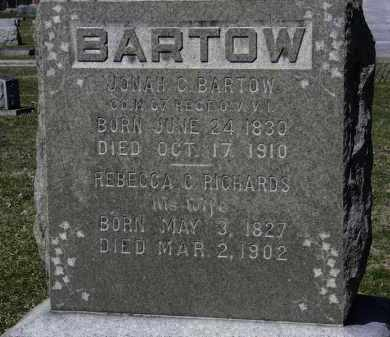 RICHARDS BARTOW, REBECCA C. - Erie County, Ohio | REBECCA C. RICHARDS BARTOW - Ohio Gravestone Photos