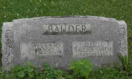 BAUDER, SILAS E. - Erie County, Ohio | SILAS E. BAUDER - Ohio Gravestone Photos