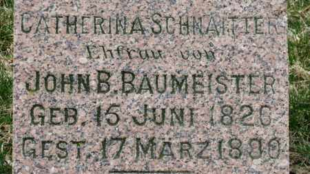 BAUMEISTER, CATHERINA - Erie County, Ohio | CATHERINA BAUMEISTER - Ohio Gravestone Photos