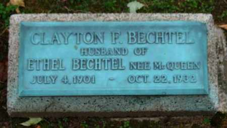 BECHTEL, CLAYTON - Erie County, Ohio | CLAYTON BECHTEL - Ohio Gravestone Photos