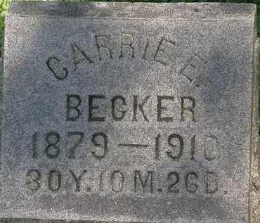 BECKER, CARRIE E. - Erie County, Ohio | CARRIE E. BECKER - Ohio Gravestone Photos