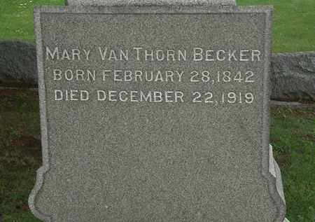 VANTHORN BECKER, MARY - Erie County, Ohio | MARY VANTHORN BECKER - Ohio Gravestone Photos